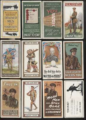 £72.43 • Buy 1915 Wills Cigarettes Recruiting Posters VGEX EX Avg Complete 12 Card Set 63722