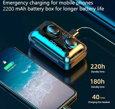 $ CDN31.53 • Buy Bluetooth Earbuds For Iphone Samsung Android Wireless Earphone IPX7 Waterproof