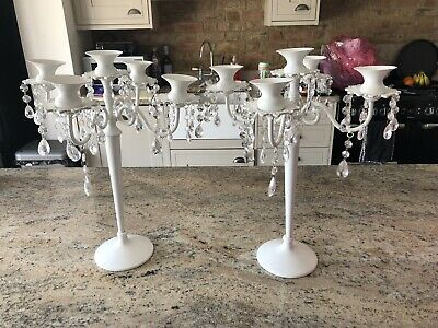 £10 • Buy Candelabra Style Candlestick Holders X 2
