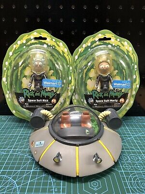 £34.35 • Buy RICK AND MORTY Action Figures & Coin Bank Spaceship (Lot Of 3)  🏦 🛸