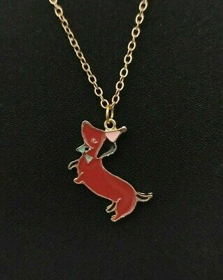 £4.99 • Buy Dog Pendant Necklace Puppy Chain Jewellery Pug Sausage Dog Gold Colour Chain UK