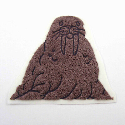 AU8.89 • Buy Vintage 1980s 80s Sticker Fuzzy Flocked Brown Walrus Unused