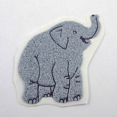 AU8.89 • Buy Vintage 1980s 80s Sticker Fuzzy Flocked Gray Elephant Unused