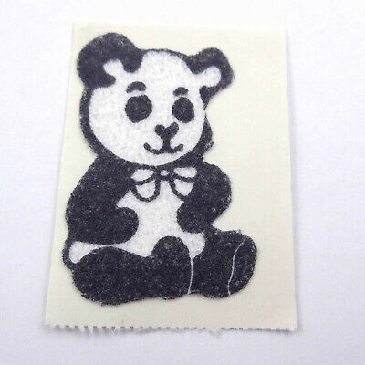 AU6.34 • Buy Vintage 1980s 80s Sticker Fuzzy Flocked Panda Bear Unused