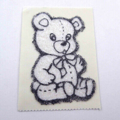 AU6.34 • Buy Vintage 1980s 80s Sticker Fuzzy Flocked White Bear Unused