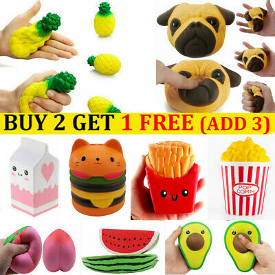 AU8.99 • Buy Hot Jumbo Slow Rising Soft Squeeze Toy Reliever Stress Kill Virus Gifts