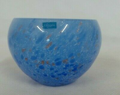 £4.99 • Buy Caithness Glass Bowl - Blue & Gold Colour - Handcrafted In Scotland