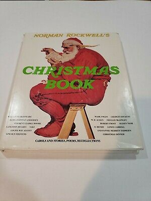 $ CDN18.19 • Buy Norman Rockwell's Christmas Book Carols, Stories, Poems & Art Vintage 1977 HC