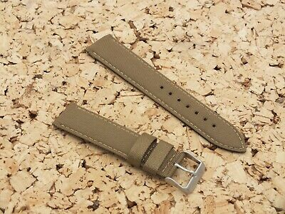 Canvas On Leather Quick Release Watch Strap 22mm // Gold By Geckota • 4.20£