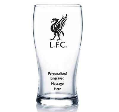 £12.99 • Buy LFC Personalised Engraved Pint Glass Gift Perfect For Birthdays
