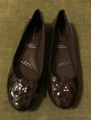 £6 • Buy Rockport (adiPRENE By Adidas) Ladies Flat Shoes. Leather, Brown Patent. Size 5
