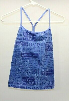 $ CDN26.63 • Buy LULULEMON Womens Athletic Tank Top With Built In Sports Bra Size 6 With Wording
