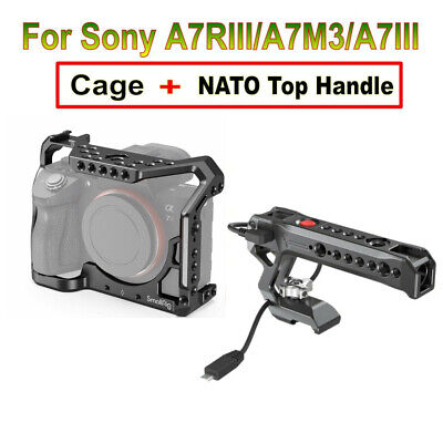 $ CDN186.64 • Buy SmallRig Cage+NATO Top Handle Record Start/Stop For Sony A7RIII/A7M3/A7III