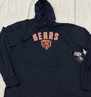 $28.85 • Buy Chicago Bears Fall Navy 47 Brand Hoodie Pullover NWT Size 2XL Comfortable Fit