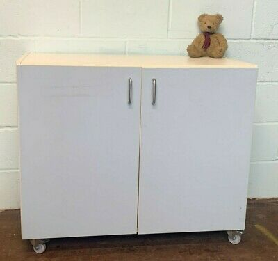 £49 • Buy Office Kitchen Unit Computer Lab Cabinet On Wheels FREE MANCHESTER DELIVERY
