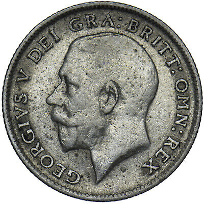 £8 • Buy 1914 Sixpence - George V British Silver Coin - Nice