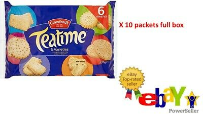 £19.95 • Buy Crawford's Teatime Biscuits 275g X 10 FULL BOX PARTY GUEST TEA ROOM COFFEE SHOP