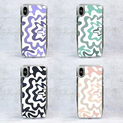 £6.99 • Buy Plastic Abstract Groovy Waves Swirls Phone Case/Cover For IPhone Samsung Google