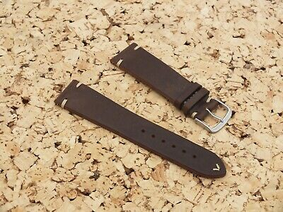 Genuine Craft Leather Quick Release Watch Strap Coffee Brown 22mm By Geckota • 3.99£