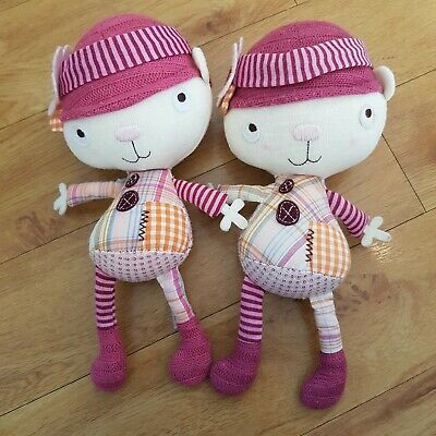 £9.99 • Buy 2 Mamas And Papas SCRAPBOOK GIRL RAGDOLL Soft Toy Plush Rattle Bell Inside