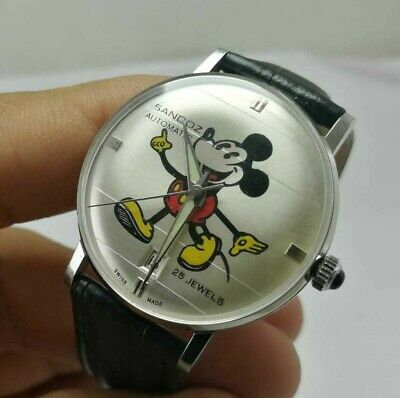 $ CDN302.29 • Buy Vintage Original Men's Sandoz Mickey Mouse Automatic Date Gents Wrist Watch