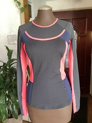 $ CDN33.97 • Buy Lululemon Trail Bound Long Sleeve Running Top Color Block Navy Pink Size 4