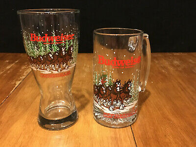 $ CDN19.29 • Buy 2 Vintage Budweiser Clydesdale Beer Glasses