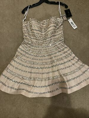Terani Couture P1618 Prom Gown Fashion Dress - Nude Size 10 New • 84.13£