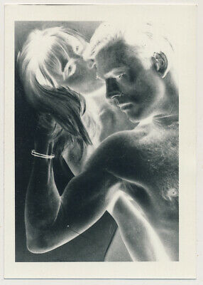 $ CDN30.24 • Buy HAIRY CHEST MODEL MAN & WOMAN Odd REVERSE NEGATIVE EXPERIMENT Photo ABSTRACT Gay