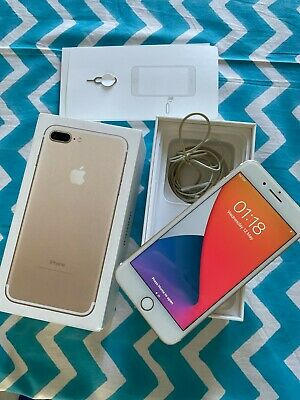 £155 • Buy Unlocked Iphone 7 Plus, Gold, BOXED. 128GB. MN4Q2B/A With Free Accessories