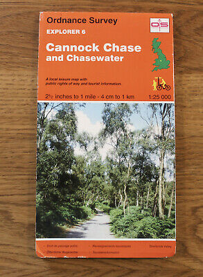 £4.99 • Buy Ordnance Survey Map CANNOCK CHASE & CHASEWATER Explorer 6 Stafford Rugeley Coven