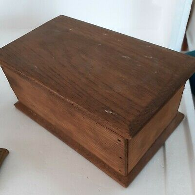 "£0.99 • Buy Small Vintage Wooden Storage Box Lidded 7"" X 5"""