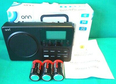 £9.99 • Buy Onn AM/FM Tabletop Portable Radio Battery Powered LCD Display & Batteries