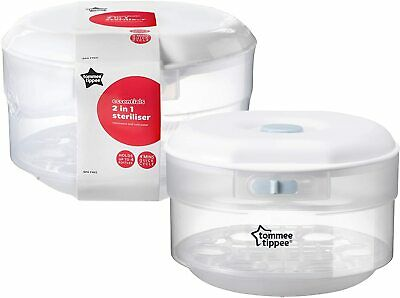 £22.49 • Buy Tommee Tippee Essentials Microwave Steriliser Up To 4 Bottles 4 Mins Quick Cycle
