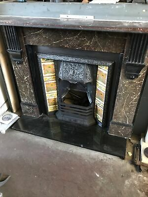 £895 • Buy Original Late Victorian Cast Iron Fireplace And Scumbled Slate Surround
