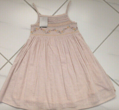 AU28.89 • Buy NEXT Girl Cotton Summer Dress For 3-4 Years NEW BNWT Flowers Embroidery