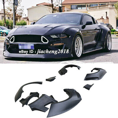 $ CDN2642.87 • Buy For 18+ Ford Mustang GT500 CD Style Fender Flares Wide Body Kit Wheel Arch Cover