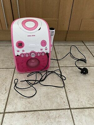 £15.99 • Buy Karaoke Machine Pink VOCAL STAR VSPartybox With 1 Microphone And 1cd