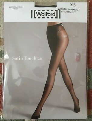 Wolford Satin Touch 20 Tights (18378) XS Black B Sortiment RRP £35 • 12.50£