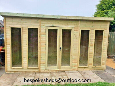 £2500 • Buy Pent Summer House Office Log Cabin Man Cave T&g  Lead Time 8-14 Weeks
