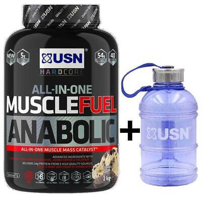£36.99 • Buy USN Muscle Fuel Anabolic All In One Lean Gainer Protein Shake 2Kg+1 Litre Gallon