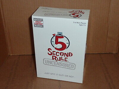 AU45.04 • Buy Playmonster 5 Second Rule Uncensored Board Game New Sealed