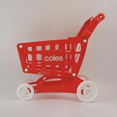 £8.18 • Buy Official Coles Mini Little Shop Shopping Trolley - Push Along Toy Kart