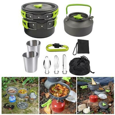 £21.94 • Buy Portable Camping Cookware Kit Outdoor Picnic Hiking Equipment Cooking U3X6