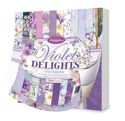 £8.99 • Buy Violet Delights 6 X6  Paper Pad - 48 Sheets - Hunkydory Crafts