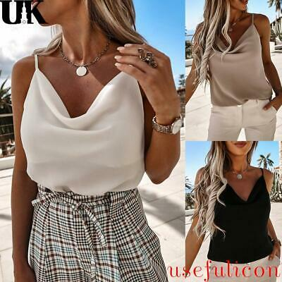 £7.55 • Buy Sexy Womens Summer Loose Vest Tank Tops Ladies Casual Party V Neck Cami Blouse