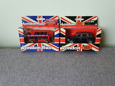 £8.99 • Buy RED LONDON BUS & TAXI CAB • Toy And Collectable Car/Bus