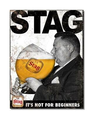 £8.50 • Buy Stag It's Not For Beginners Vintage Bar Metal Wall Sign 2 Sizes