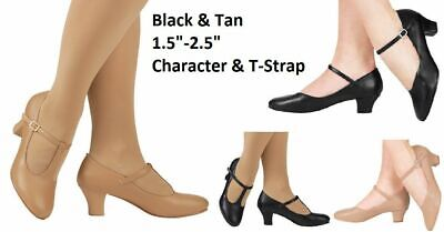 $18 • Buy Dance Character Tap Shoes MANY OPTIONS Adult & Child Sizes JAZZ Tap Black Beige