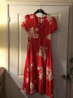 AU27.18 • Buy Marks And Spencer Alexa Chung Red Floral Midi Dress 6
